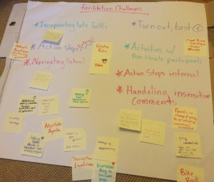 Brainstorm of challenges with tools we identified through the role-playing